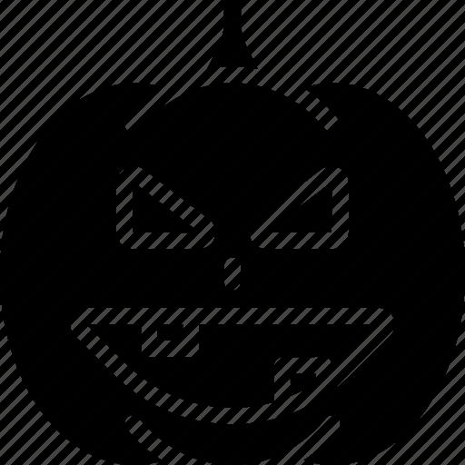 creepy, halloween, pumpkin, scary, spooky icon