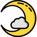creepy, crescent, halloween, moon, scary, spooky icon