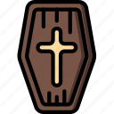 coffin, creepy, halloween, scary, spooky icon