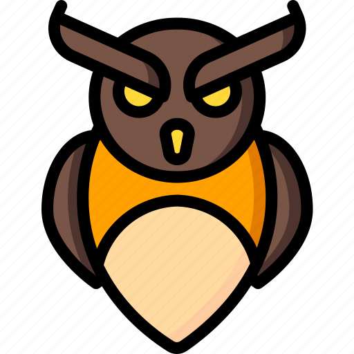creepy, halloween, owl, scary, spooky icon