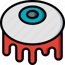 creepy, eyeball, halloween, scary, spooky icon