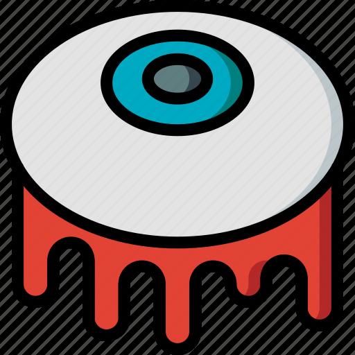 creepy, eyeball, halloween, scary, spooky icon