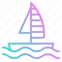 boat, competition, sail, sailboat, sport, transportation icon
