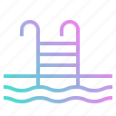 competition, pool, summertime, swimming, water icon