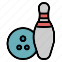 bowling, competition, fun, game, hobbies, relax, sports icon