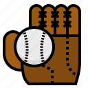 ball, baseball, competition, game, glove, soft, sport icon