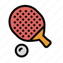 ball0a, equipment, ping, pong, racket, sports, table, tennis icon
