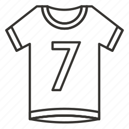 clothes, clothing, dress, number, sport, uniform, wear icon