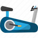 concept, fitness, healthy, object, recumbent bike, sport, tool icon