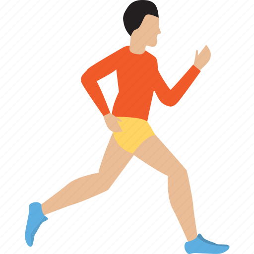 athlete, character, healthy, man, runing, sport icon
