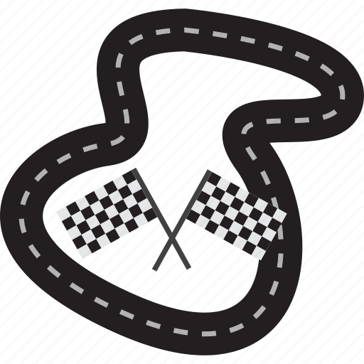 flag, game, object, race, race arena, road, sport icon
