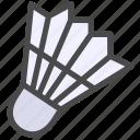 badminton, shuttlecock icon