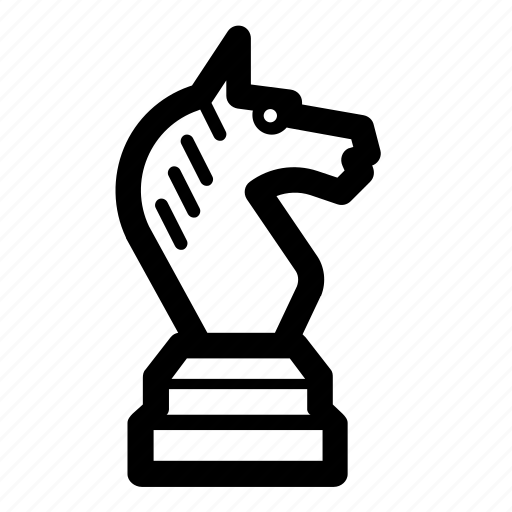 chess, chess piece, game, knight, piece, sports, strategy icon