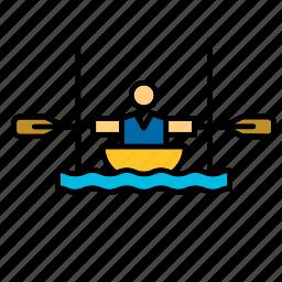 canoe, canoeing, olympic, olympics, slalom, sport, sports icon
