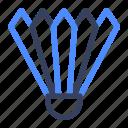 shuttlecock, badminton, sport icon