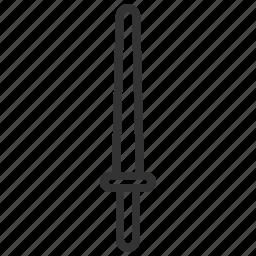 equipment, kendo, sport, sword, tool icon