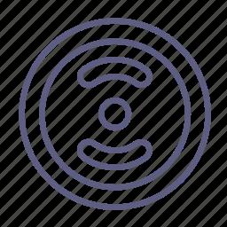 barbell, dumbbell, fitness, kettlebell, sportsgear, weightlifting, wheel icon
