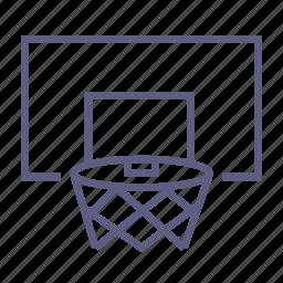 basketball, basketball backboard, basketball hoop, goal, gym, sport, sportsgear icon