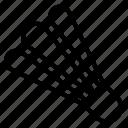 badminton, birdie, shuttlecocks, sport icon