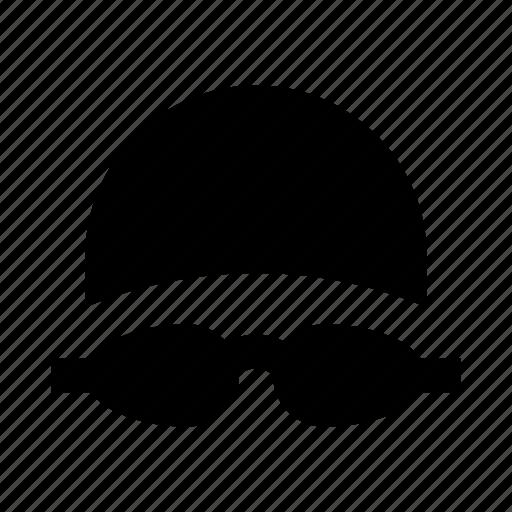 cap, face, glasses, goggles, sport, swimmer, swimming icon