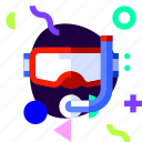 adaptive, goggles, ios, isolated, material design, snorkeling, sport
