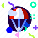 adaptive, extreme, ios, isolated, material design, skydiving, sport icon