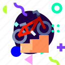 adaptive, bicycle, bmx, ios, isolated, material design, sport icon