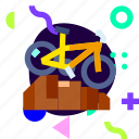 adaptive, bicycle, downhill, ios, isolated, material design, sport icon