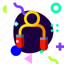 adaptive, ios, isolated, material design, skipping, sport icon