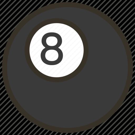 ball, billiard, pool icon