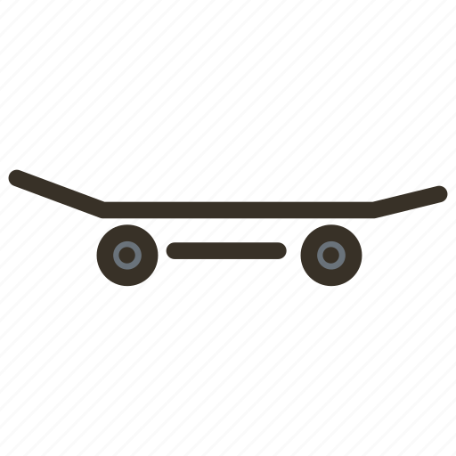 skateboard, sport icon