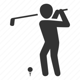 course, golf, golfer, play, sport, swing, tee icon