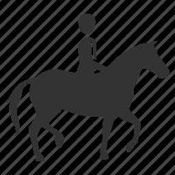 cowboy, horse, horseback, rider, riding, sport, transportation icon