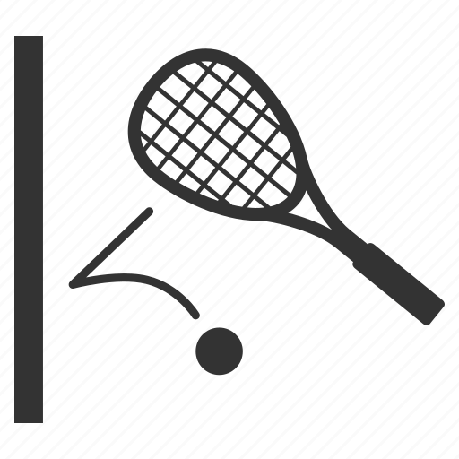ball, courts, racket, sports, squash, tennis, wall icon