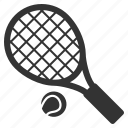 ball, courts, fitness, play, racket, sport, tennis icon