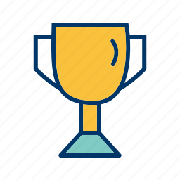 award, cup, goblet, gold, prize, win, winner icon