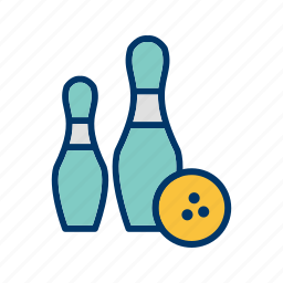 bowling, game, hit, movement, sport, strike, target icon