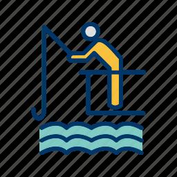 boat, fishing, lake, mansport, river, summer, water icon
