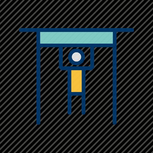 exercise, gym, handbar, handle bar icon