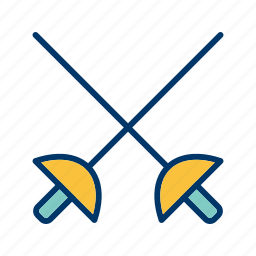 fencing, olympics, sport, sword icon