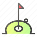 ball, competition, flag, game, golf, sport, trophy