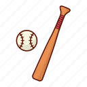 baseball, bat, sport, stick icon