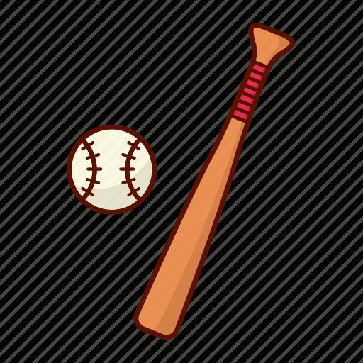 baseball, bat, sport, stick icon