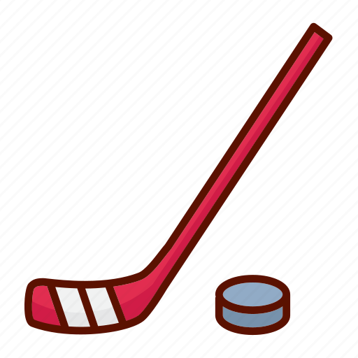 hockey, puck, sport, stick icon
