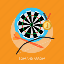 archery, arrow, bow, bow and arrow, sport, target icon