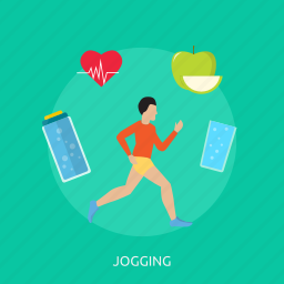 exercise, healthy, jogging, lifestyle, race, sport, training icon