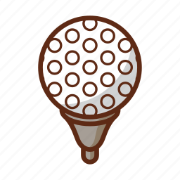 ball, field, golf, pattern, sports, texture, white icon