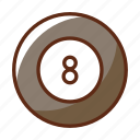 ball, billiard, eight, pool, sports, table icon