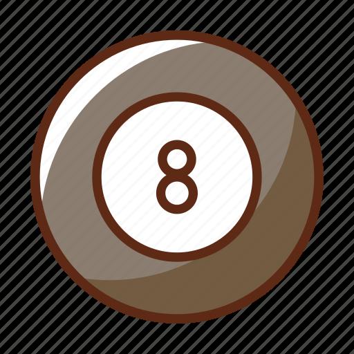 ball, billiard, eight, pool, sports, table icon