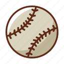ball, baseball, gray, sports, stick, white icon